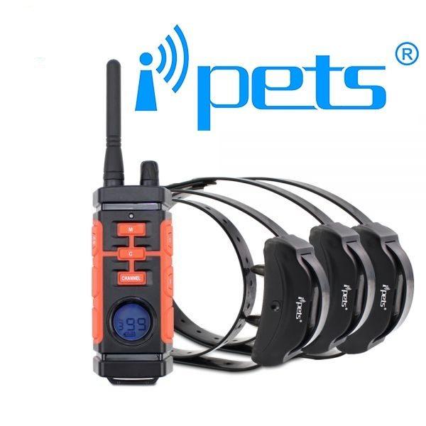 iPETS 616 Távirányítós elektromos kiképző nyakörv vízálló adó és vevőegység vadászatra is kiváló 4