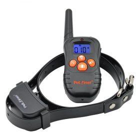 Petrainer 998N 300m hatótávú, elektromos nyakörv, távirányítós rezgő training nyakörv LCD kijelzővel li-ion akkus, kiképző nyakörv
